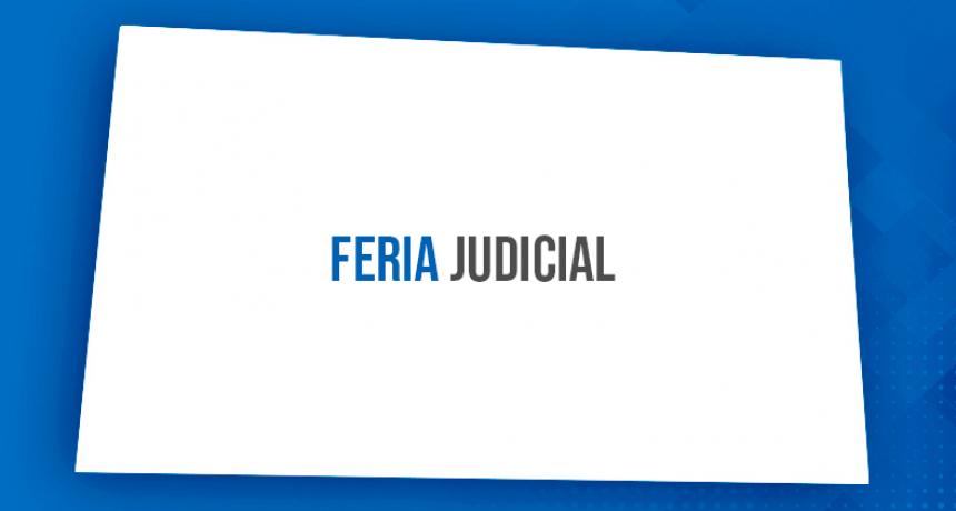 Quedaron designadas las autoridades judiciales de feria