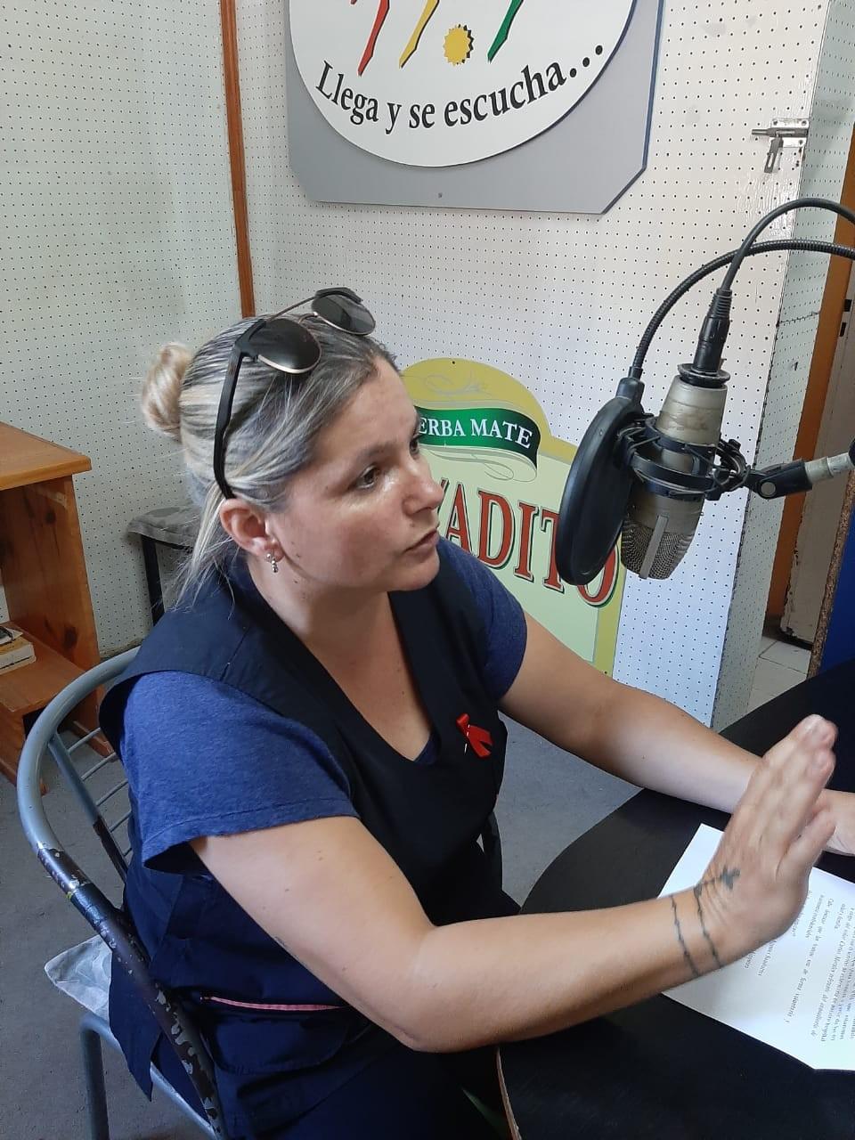 Agente Sanitario Mónica Schmidt  se refirió al Día Mundial del la lucha contra el VIH