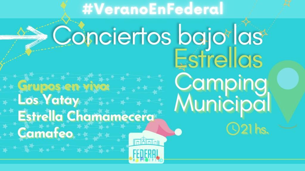 #VeranoEnFederal #Conciertos